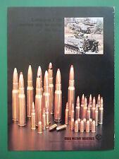 6/1982 PUB IMI ISRAEL MILITARY INDUSTRIES TSAHAL AMMUNITIONS CHAR MERKAVA AD
