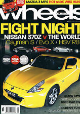Wheels Jun 09 Cayman S EVO X HSV R8 370Z Mazda 3 MPS SP25 Holden Cruze Golf 118