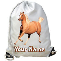 PALOMINO HORSE PONY PERSONALISED GYM / PE / DANCE / SWIMMING BAG **NAMED GIFT**