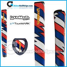 TourMARK Loudmouth Captain Thunderbolt Jumbo Putter Grip - Blue White Red + Tape
