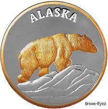 Alaska Mint POLAR BEAR Silver Medallion Proof 1Oz