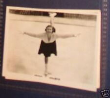 Cecilia colladge Tarjeta con fotografía de patinaje