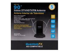 Quantum FX QFX ANT-101 HD/DTV/VHF/UHF/FM Rotating Indoor Amplified TV Antenna