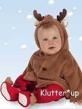 Bearington Bear Boy Girl Christmas BABY LIL' REINDEER COAT JACKET #198028 6-12 M