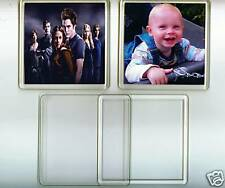 10 premium quality blank large reusable photo DIY coasters photo/insert