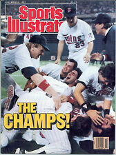Sports Illustrated 1987 WORLD SERIES CHAMPS Minnesota Twins Baseball NO LABEL