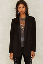 Nasty Gal Collection Ensemble Oversized Blazer black small new with tags