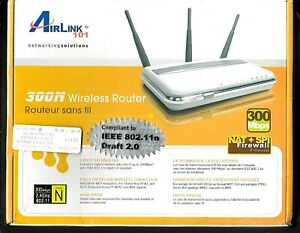 Airlink 101 300N Wireless Router 300 Mbps AR680W Unopened