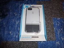 Genuine Speck CandyShell Flip Case for iPhone 5/5S White/Charcoal Gray Authentic