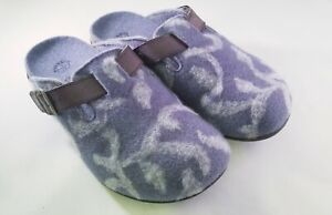 Dr. Weil by Vionic w/ Orthaheel Orthotic Slip-on Mule w/ Pattern-Flores- Lt.Blue