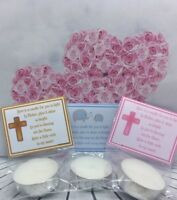 PERSONALISED Christening Baptism First Holy Communion SCENTED candle favours