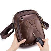 """100% Genuine Leather Men's Sling Shoulder Bag Vintage Crossbody Bag 8"""" Handbag"""