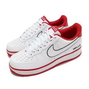 Nike Air Force 1 07 LX Hello White University Red Men Casual Shoes CZ0327-100
