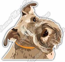 """Cute Miniature Schnauzer Dog Breed Car Bumper Vinyl Sticker Decal 5""""X4"""""""