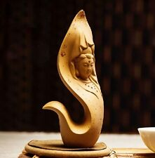 Chinese Yixing handmade zisha tea pet Guanyin bodhisattva Mercy Goddess Duan Ni