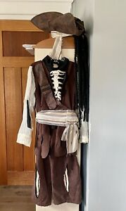 Disney Parks Authentic Pirates of the Caribbean skeleton Pirate costume Boys med