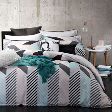 Logan and Mason RIO MINT Queen Size Bed Doona Duvet Quilt Cover Set BRAND NEW