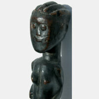 an old antique female african figure lagoon region ghana