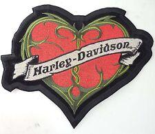 Harley Davidson Emblem Embroidered Patch RED HEART
