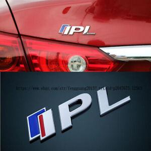 For Infiniti Q50 Q50S 3D Chrome IPL Performance Logo Metal Emblem Car Sticker