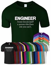 Engineer Gift for Dad Mens Funny T Shirt Crew Neck Top T-Shirt