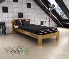 "*NODAX* Wooden Furniture Solid Pine Single Bedframe 3ft UK Size - 4 Colours ""F4"""