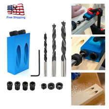14pcs Pocket Hole Screw Jig with Dowel Drill Set Carpenters Wood Joint Tool DIY