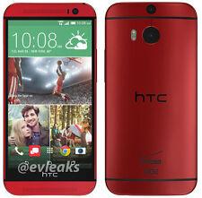 "HTC One M8 4G LTE 32GB 2GB RAM 5"" Android GPS NFC Débloqué Téléphone Rouge Red"