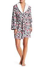 NWT Womens HELLO KITTY Size MEDIUM Soft PLUSH Faux Shearling Robe w/Slit Pockets