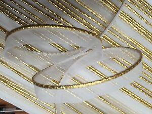 """Vintage 1950s Gold Metallic Piping 1/16"""" Tubing with Lip 1yd Made in USA"""