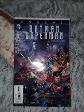 BATMAN SUPERMAN ANNUAL #1  UNREAD VARIANT COPY SIGNED BY JAE LEE