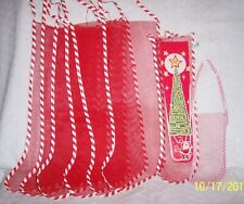Holiday Stockings Red Mesh Christmas Old Style Vintage: U Choose