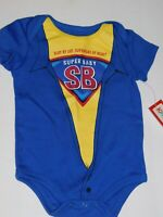 Infant 0 3 6 9 Month Boy Super Hero SuperBaby One Piece Baby Creeper