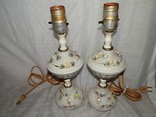Vintage, Japan, Ceramic, Flowered, Electric, Bedroom/Vanity, Lamps - (2)