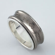 bce3407b8 Tiffany & Co. Sterling Silver and Titanium 1837 Band Ring Size 8.75