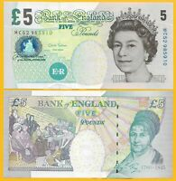 England 5 Pounds p-391d 2012 Sign. Salmon UNC Banknote