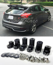 For 13-Up Ford Focus ST Hatchback Rear Spoiler Lip Wing Black Riser Raiser Kit
