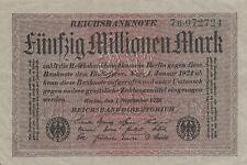 * Ro. 108b - 50 millones de marcos-Deutsches Reich - 1923-Fz: B *