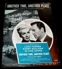LANA TURNER 1958 PHOTO MUSIC SHEET ANOTHER TIME ANOTHER PLACE * BARRY SULLIVAN