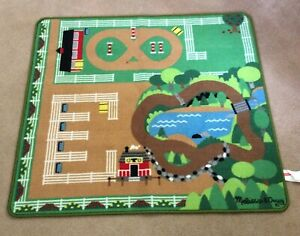 Melissa & Doug Play Mat Round The Ranch Horse Rug 9409 36 X 40 Inches