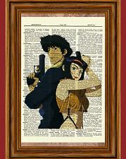 Cowboy Bebop Anime Dictionary Art Print Poster Spike Spiegel Faye Valentine