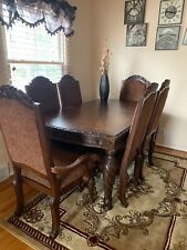 Oak wood dining room set 6 chairs
