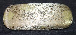 Vintage ASIAN DESIGN Gold Eyeglasses HARD CASE lot l