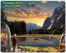 Camping Trailer Fishing Yosemite Metal Sign Man Cave Wall Decor Grossman LG445