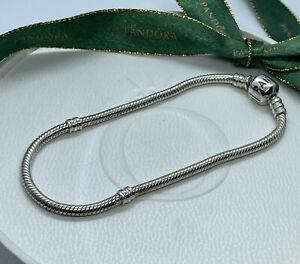 Genuine Pandora 20.5cm Classic Sterling Silver Charm Bracelet 925 ALE 590702HV
