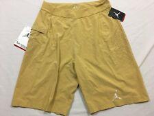 M39 New $100 AIR JORDAN Dri Fit Jumpman 23 Yellow Athletic Shorts MEN'S M 2012