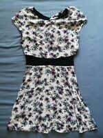 MAJE Women's White Floral Dress Size 3 UK 12 Good Used Condition