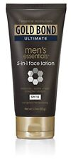 3 Pack Gold Bond Ultimate Men's Essentials 5-in-1 Face Lotion 3.3oz Each