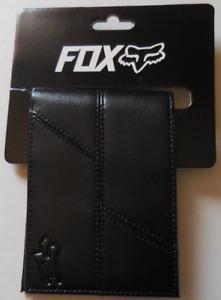 Fox Racing Unisex Edge Leather Bifold Wallet Color Black New