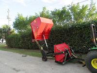 "Redexim Turf Tidy 1310 Turf 60"" Vacuum Sweeper Verticutter Scarifier Flail Mower"